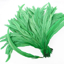 Bleach-Dyed Rooster Coque Tail Feathers selling Per Bundle Loose Feather