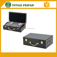 500pcs plastic poker chip set chips only with luxury wooden case