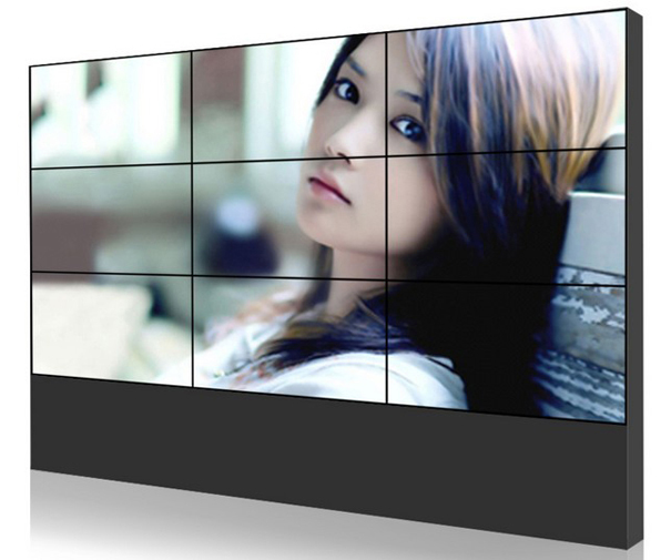 PC HD 55 inch portable lcd tv wall with samsung panel 1.9mm seam