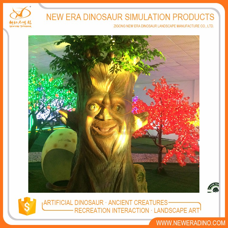Amusement park artificial animatronic talking tree for sale