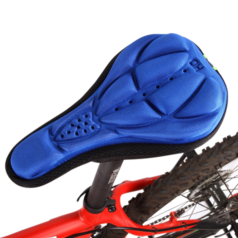 Bike Bicycle 3D Silicone Saddle Seat Cover Pad Padded Soft Cushion Comfort