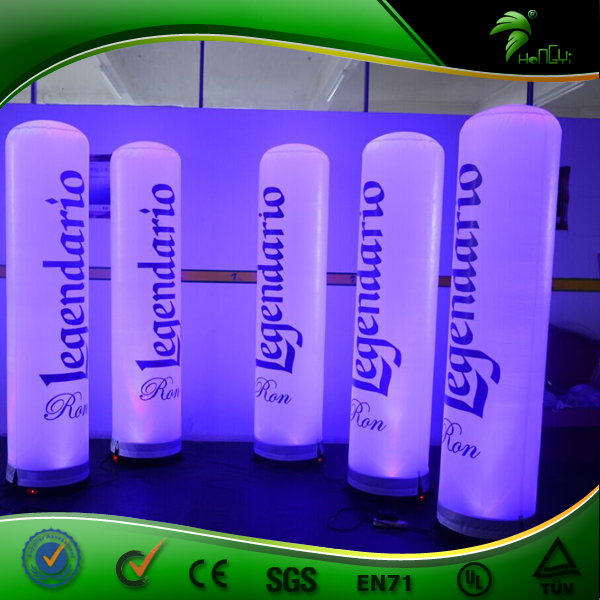 Custom Inflatable Led Totem Advertising 3m High Inflatable Lighting Changing Tube