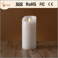 white votive flameless church candles