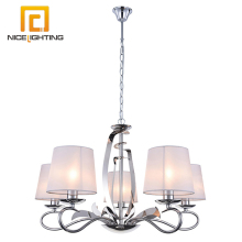 Attractive modern low ceiling iron metal chain chandelier glass pendants for chandelier