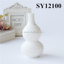 Small cucurbit shape home decor ceramic flower vase