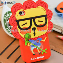 ROCK & ROLL cute cartoon silicone phone case / unique silicone Mobile Phone case cover