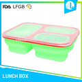 Anti-slip silicone material green lid square food container