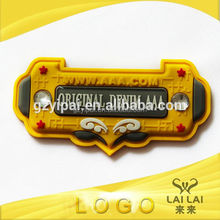 Wholesale security rubber label school uniform brand logo