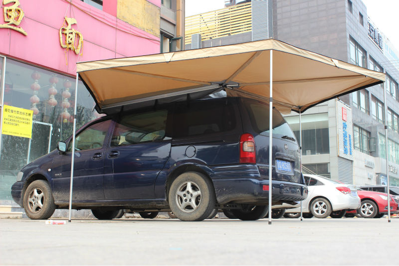foxwing car side awning in outdoor shelter