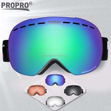 Fashionable colorful snowboarding polarized skiing goggles
