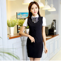 ladies bank uniforms/ladies office uniform/hotel staff reception uniform