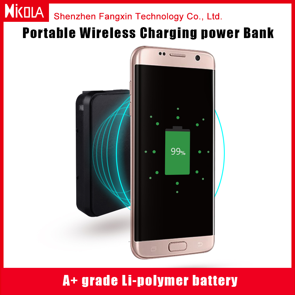 New Qi wireless charging power bank for iphone/ Samsung