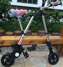 a bike one-second lightweight aluminum 8 inch fat tire folding bike