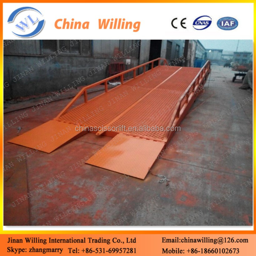 Container mobile mechanical dock leveler