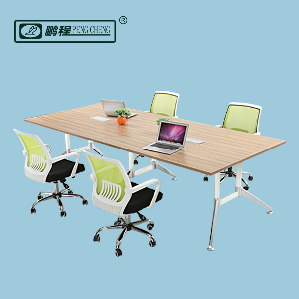 Flexible Gas Spring Modern Designed Easy Assembly Office Meeting Table