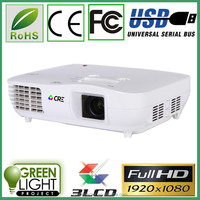 Supper quality 3 led 3 lcd 1920*1080P home theater business education full hd led RGB WIFI 3d led projector mini proyector