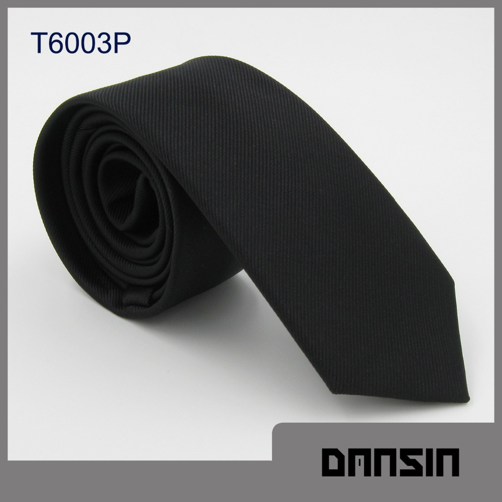 High Quality New arrival Skinny Polyester Black Tie
