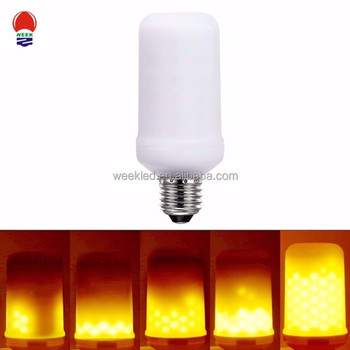Newest 7w LED Flame Effect Fire Light Bulbs Flickering Emulation lamp
