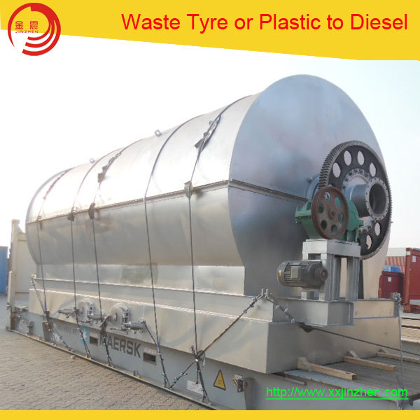 Provide Turnkey Project Recycle Waste Tire Plastic Rubber to Oil Waste Tire Pyrolysis Plant