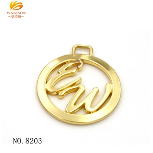 Alibaba Luxury handbag Custom logo hang metal tag for bag hardwares