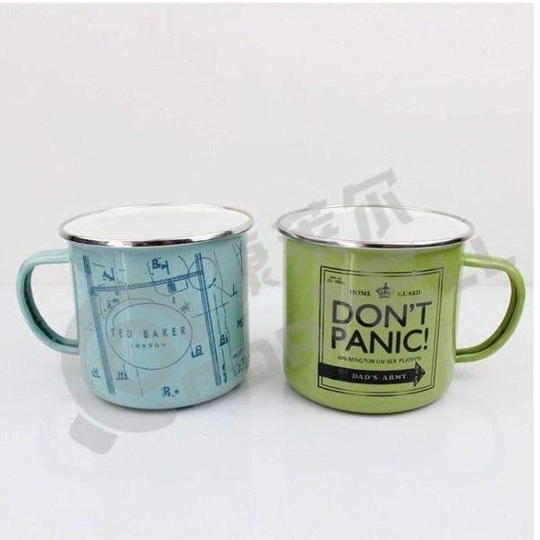 Factory Wholesale Customized Metal Enamel Mug Enamel