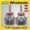Ph lips LED headlight bulbs 50w 6000lm H4 H13 9004 9007 hi/low beam with 2 year for car headlight H8/H9/H11