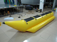Summer inflatble banana boat,inflatable flying fish, inflatable towable water games on sales