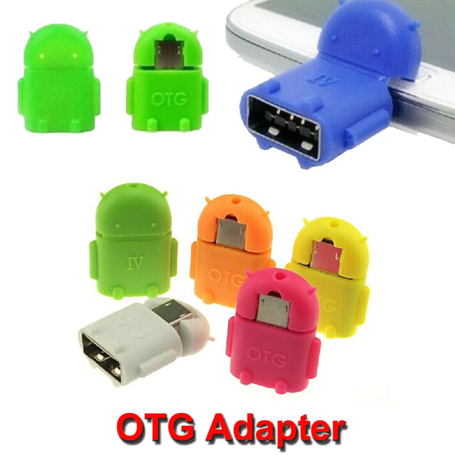 Micro USB OTG Adapter Mini Portable Robot Shape Android Converter For Tablet PC Mouse Keyboard Smartphone For Samsung Sony
