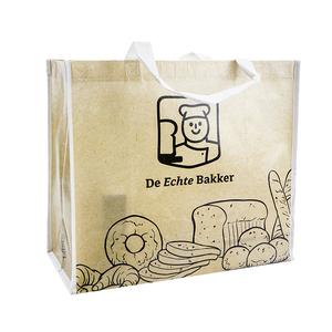 3e18f6927e0 Custom reusable green folding shopping bag, wholesale custom logo print  promotion pp nonwoven shopping bag