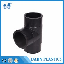 Raw material pe pipe fitting equal plastic tee