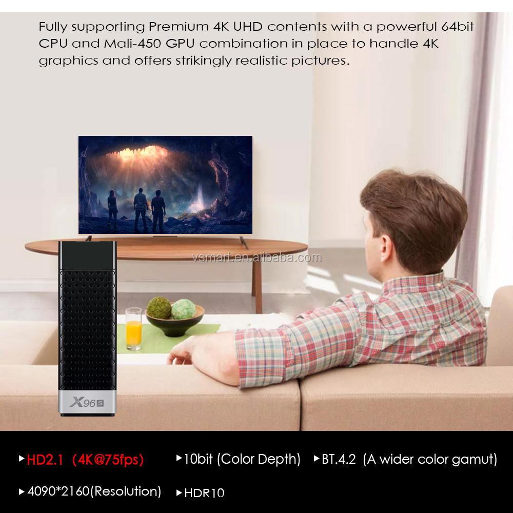 S905Y2 Chip Android 8.1 HD  2G+16G  X96S  smart android tv box
