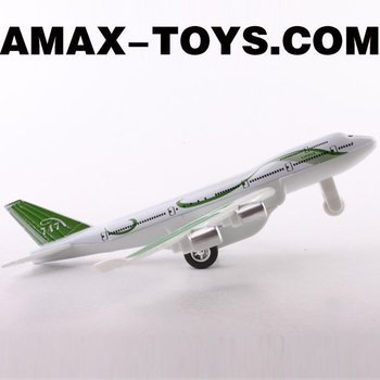 DC-066007A die cast toys 1:600 emulational pull-back airbus plane