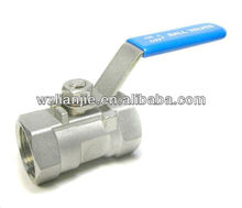 1PC Stainless Steel Ball Valve Reduce Bore 1000WOG Locking Device
