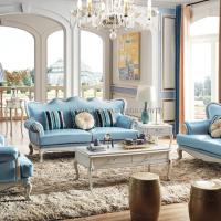 European Classical Fabric Living Room Furniture