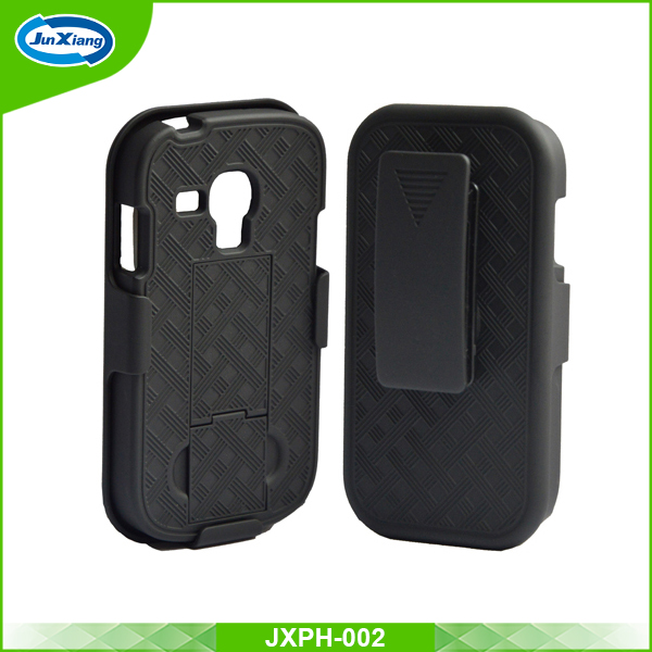 For samsung galaxy s3 S3 mini weave pattern slim armor belt clip case