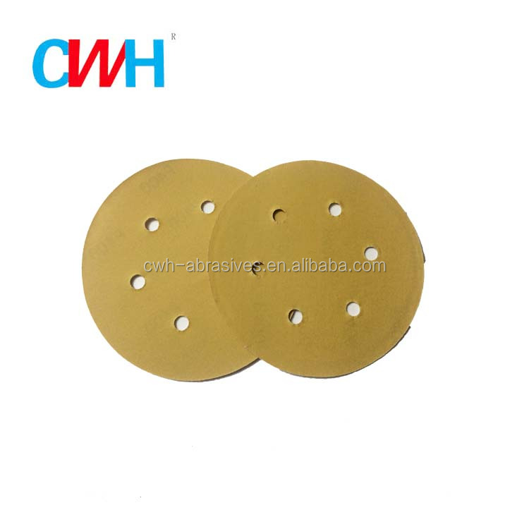 150mm 6 Inch Hook and Loop Aluminum Oxide Sanding Disc