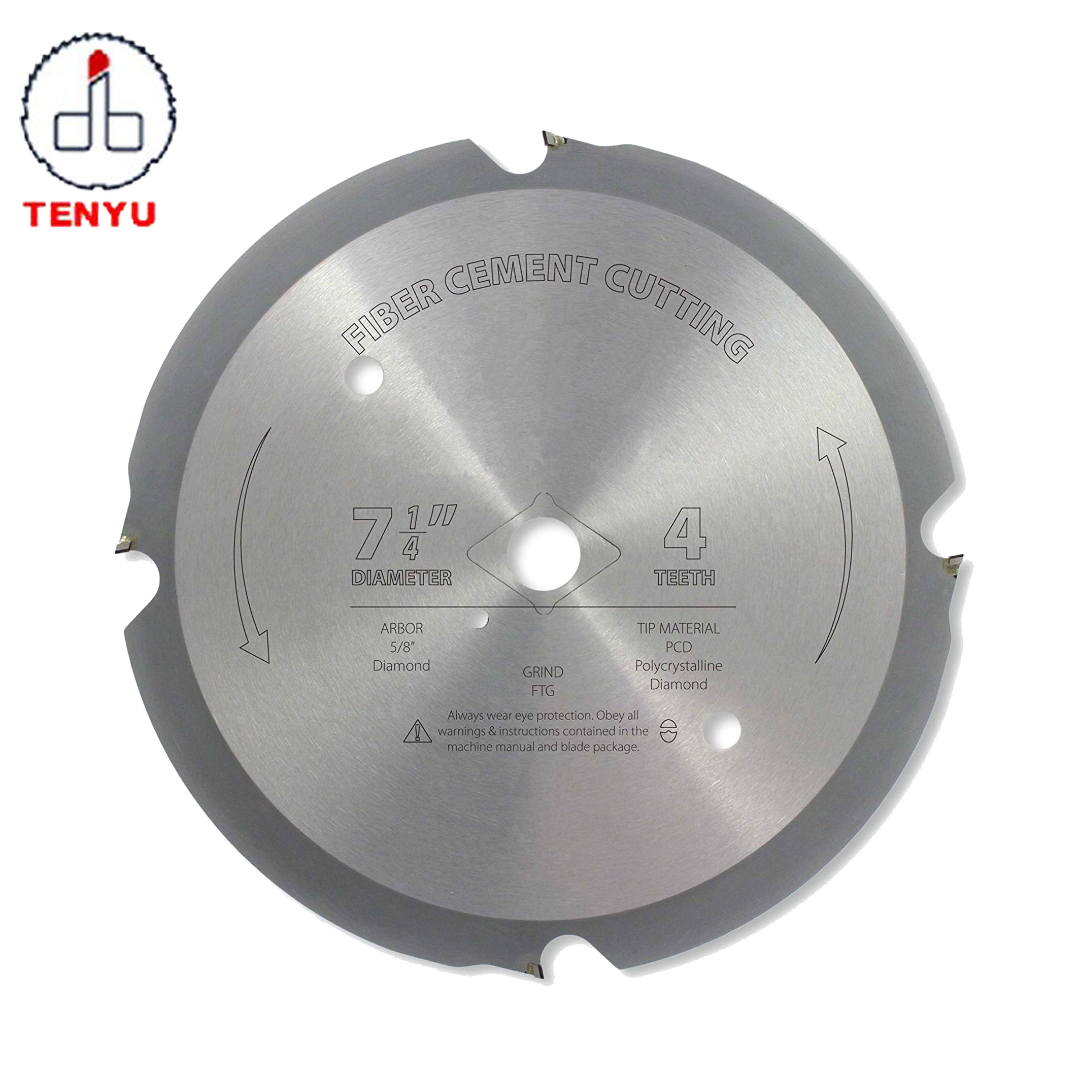 Fiber Cement Cutting PCD Saw <strong>Blade</strong> 7-1/4-Inch 4 Teeth Polycrystalline Diamond (7-1/4&quot; X 4T)