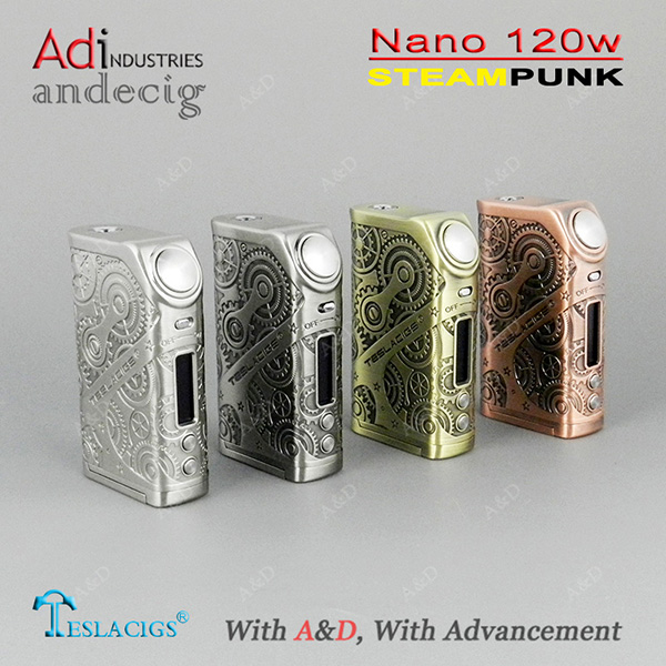 Original Tesla Nano 120w Kit Teslacigs Nano 120 TC Box Mod with Tesla ARROW RDTA Tank 3.5ml