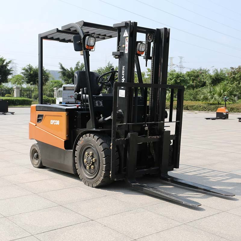 CE approved red 3t electric forklift truck CPD30 with best price for sale