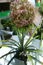 home decoration hot sell artificial hydrangea lifelike flower bonsai for table centerpieces