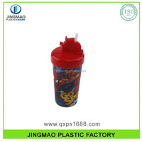 350ML Plastic 3D Lenticular cup With Straw