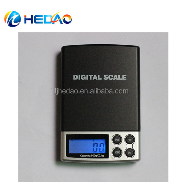 1000g / 0.1g Electronic Digital jewelry pocket scale with high accuracy/ high resolution