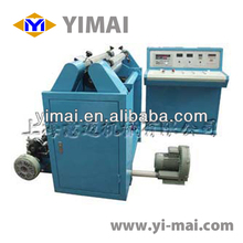 Plastic film slitting and rewinder machine