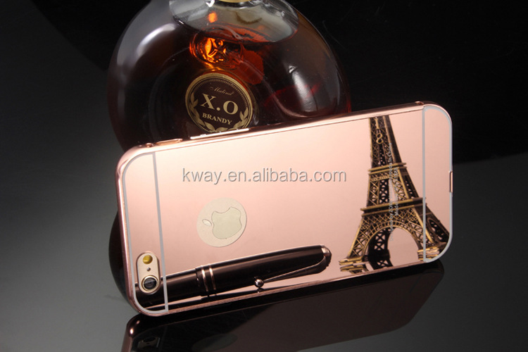 For iphone 7 / 7 plus Case Luxury Plating Mirror Aluminum Metal Bumper Frame + PC Phone Cases For iphone 7 plus Case Cover Capa