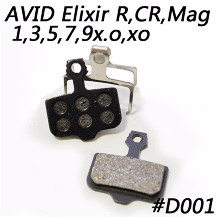 MTB Semi Metal Mountain Bike Disc Brake Pads Avid Elixir Cr <strong>R</strong> Mag <strong>1</strong> <strong>3</strong> 5 7 9 Sram X.O Xx World Cup Incl Spring