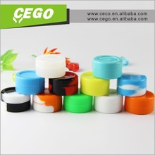 Marble swirl food quality 3ml concentrate silicone container for wax shatter resistant silicone jar silicone box