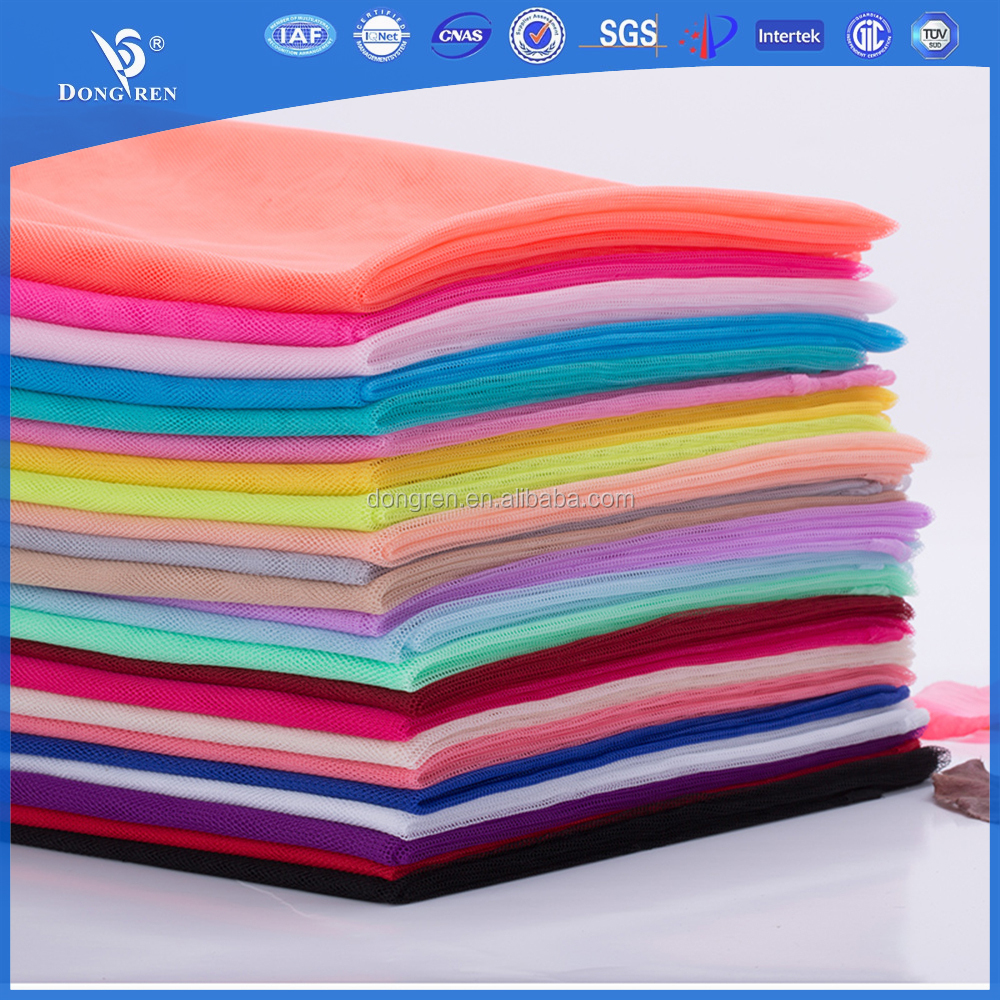 100% polyester embroidery chiffon mesh fabric for mosquito net