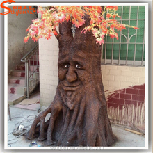 Both shape and size can be customized artificial tree trunk decorative tree stump no leaves