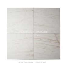 610*610mm honed natural marble china calacatta flooring tile