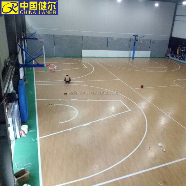 wood color plastic basketball surface